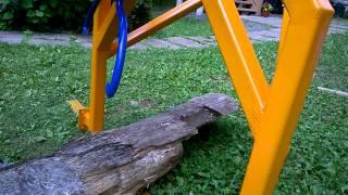 Homemade ATV log hauler