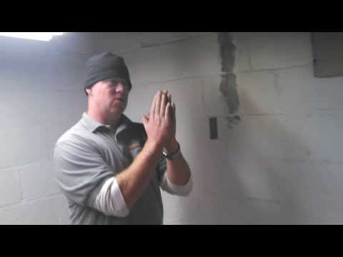 Using Carbon Fiber straps to repair bowing basement wall