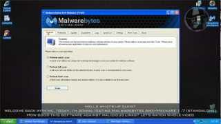 Malwarebytes Anti-Malware 1.7 - Test with more links