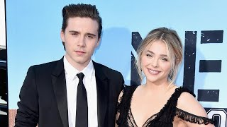 Brooklyn Beckham Plants an Adorable Kiss on Chloe Grace Moretz at Soccer Game in Ireland