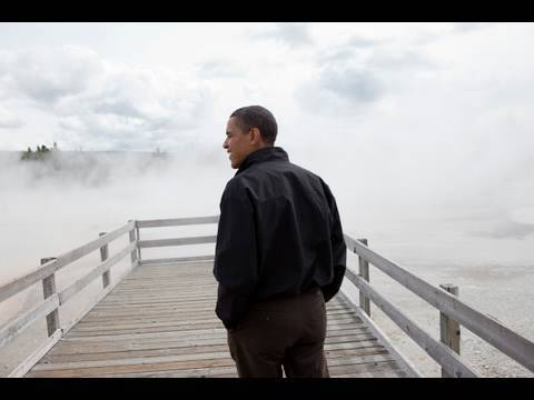 See never-before-seen footage of President Obama and his family's visit to Yellowstone National Park in the summer of 2009, following a long tradition of Ame...