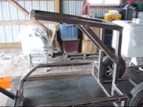 Welding Cart For Hobart Handler Mig Welder Youtube