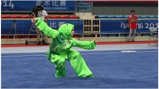 NANJING 2014 Wushu Tournament - Women Changquan TUR Elif Akyuz