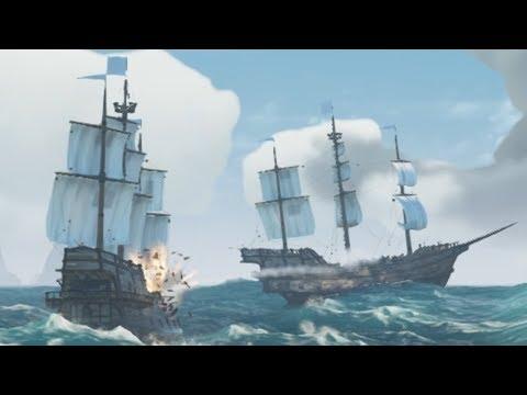 ЭПИЧНАЯ БИТВА ОГРОМНЫХ ГАЛЕОНОВ И ЗАТОНУВШИЙ КОРАБЛЬ-ПРИЗРАК - SEA OF THIEVES