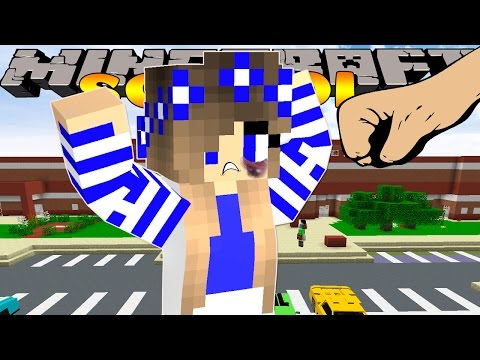 Minecraft School-LITTLE CARLY IS GETTING BULLIED!!