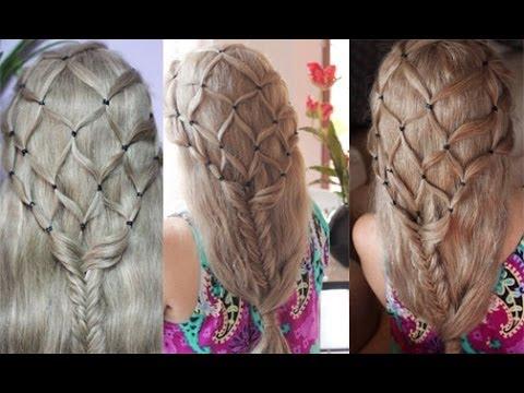 fish net fish tail braid the hobbits inspired hairstyle