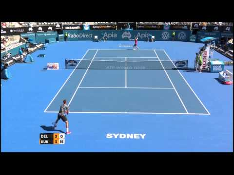 J. Del Potro (ARG) vs M. Kukushkin (KAZ) Highlights 2015 Apia Sydney International