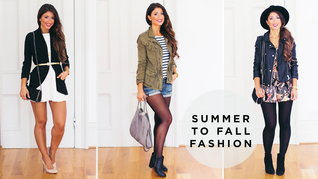 Summer To Fall Transition Fashion