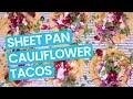 Crispy Cauliflower Tacos with Beet Citrus Salsa (Sheet Pan Recipe)