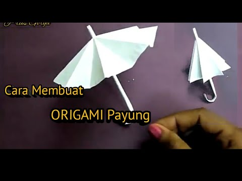 Tutorial Cara Membuat Payung dari [Origami]