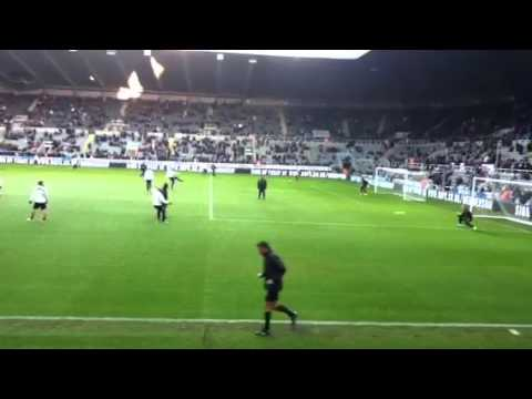 Newcastle united remy cabaye Ben Arfa shooting practice