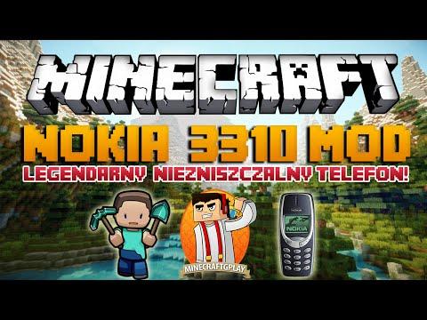 Minecraft Mody Nokia 3310 Mod Legendarny Niezniszczalny Telefon w Minecraft
