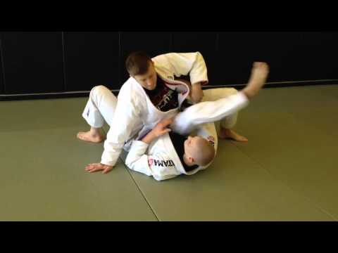 BJJ Knee on Belly to Darce Choke Sequence Image 1