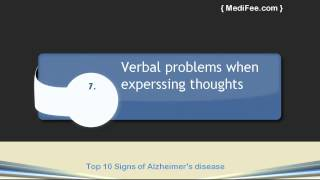 Top 10 Signs of Alzheimer's Disease