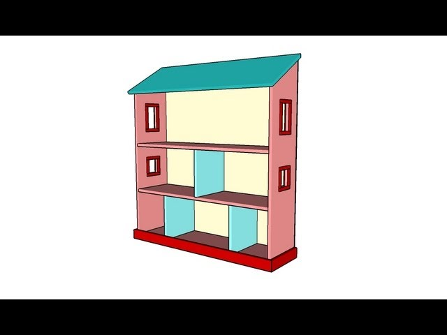 Hwo to build a dollhouse bookcase