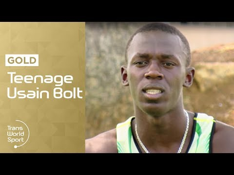 Teenage Usain Bolt on Trans World Sport