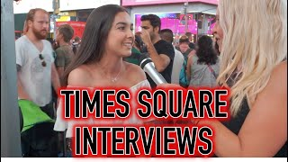 Times Square New York Random People Interviews