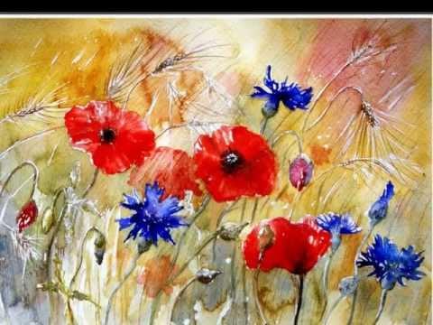 Watercolor Painting - Danuta Franczak - Kwiaty
