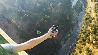 iPhone X vs Tallest Bridge 1000 FT. Drop Test - What Will Happen?