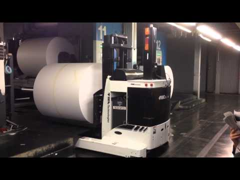 NY Times Robotic paper transport