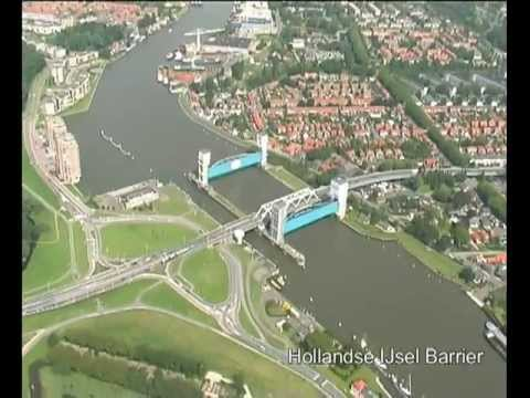 View on the Delta Works in The Netherlands.flv