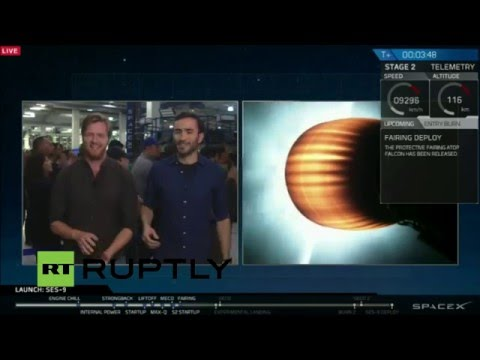 LIVE: SpaceX launches SES 9 communications satellite to orbit