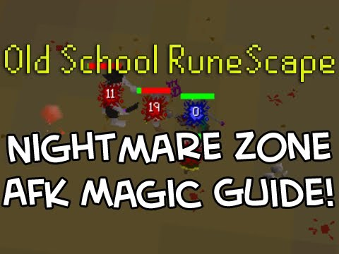 Old School RuneScape Nightmare Zone Complete AFK Magic Guide! Earn XP while you sleep!