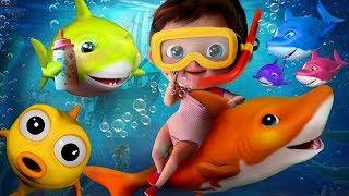 Baby Shark Dance | Shark Dance | Shark Songs | New Version Nursery Rhymes Songs for Children