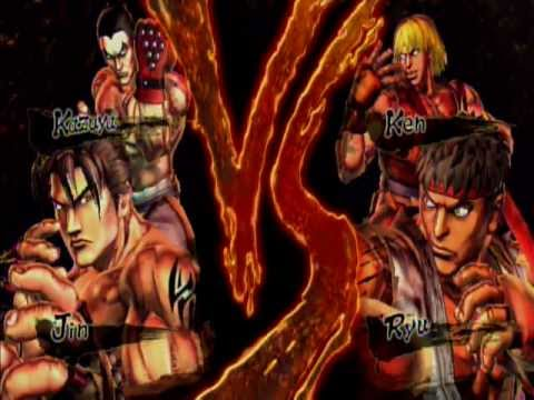 Street Fighter X Tekken Jin and Kazuya VS Ryu and Ken