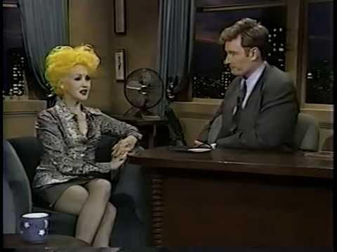 Cyndi Lauper on Late Night 1994