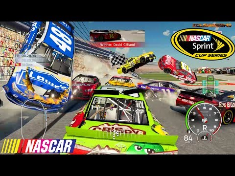40+ CARS WRECKED AGAIN! Nascar'15 The Game Crash Compilation