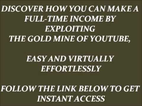 How To Make Money With Youtube,Make $100/Day Online With Youtube, Foolproof And