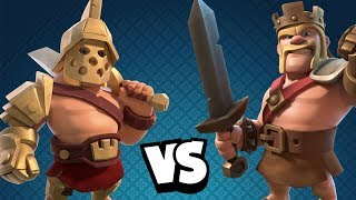 GLADIATORKÖNIG vs BARBARENKÖNIG! ☆ Clash of Clans ☆ 3D Helden!