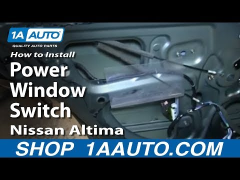 How To Install Replace Rear Power Window Switch 2002-06 Nissan Altima