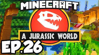 Jurassic World: Minecraft Modded Survival Ep.26 - RIDING A DINOSAUR!!! (Rexxit Modpack)