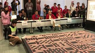 2017 Japan Halfsize micromouse 1st prize - Fast run 翠嵐 by Utsunomiya