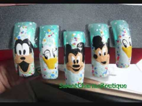 Mickey Mouse and Friends Xmas Nail Designs