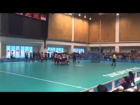 SEA Games: Singapore win the gold in women's floorball!