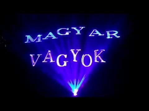 MAGYAR VAGYOK, animációs műsorunk a Kiss Kata zenekar zeneszámára. Lézershow, lézer show