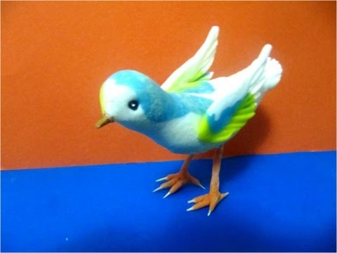 Adornos de Porcelana fría aves paso a paso