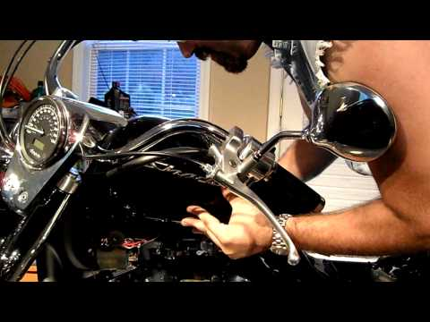 2009 Honda Shadow Aero 750 Fuel tank removal. (Part 2 of the lifter adjustment series.)
