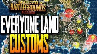 EVERYONE LAND AT.. CUSTOM GAMES PUBG Mobile