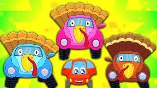 Little Red Car vườn ươm vần điệu và trẻ em video - bài hát gà tây | đảng bài hát | Turkey Song