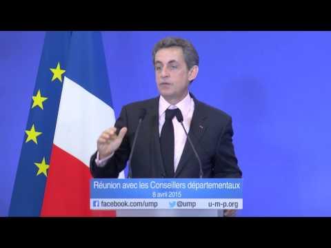 Discours de Nicolas Sarkozy - Réunion avec les conseillers départementaux