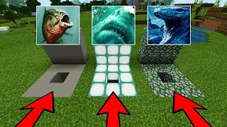 Minecraft PE : DO NOT CHOOSE THE WRONG HOLE! (Megalodon, Mosasaurus & Piranhas)