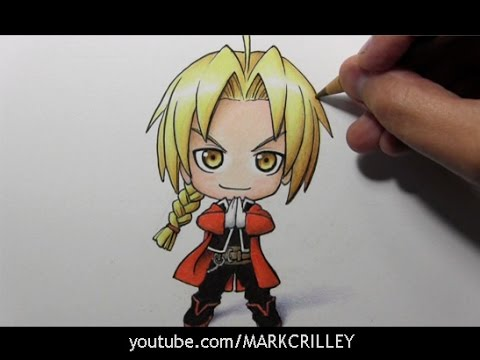 Drawing Time Lapse: Chibi Edward Elric!