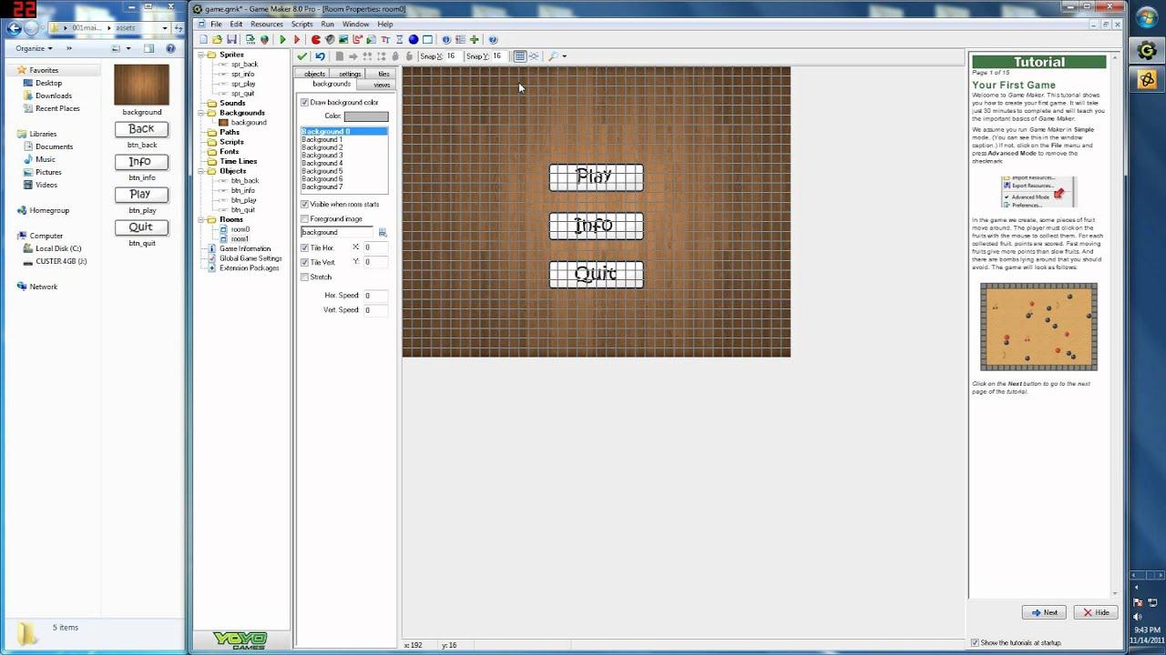 Menu Game Maker Game Maker Programming