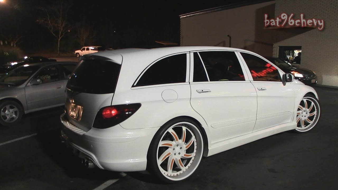 White Orange Mercedes Benz R500 Lowered On 26 Quot Forgiatos