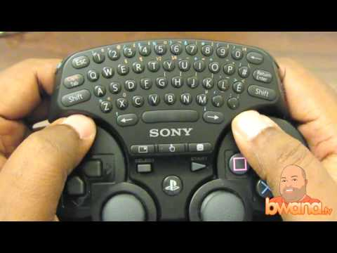 Playstation 3 (PS3) Wireless Keypad Review Video
