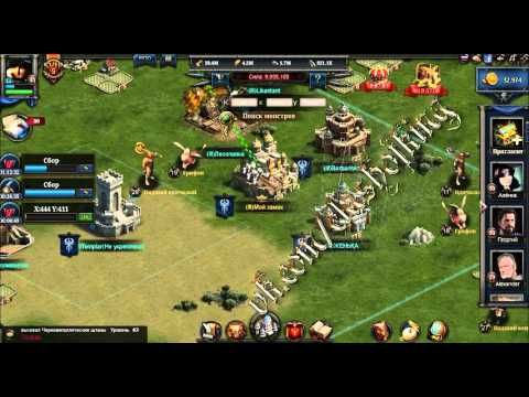 clash of kings грабим фермы и ставим на улучшение замок FunnyCat.TV